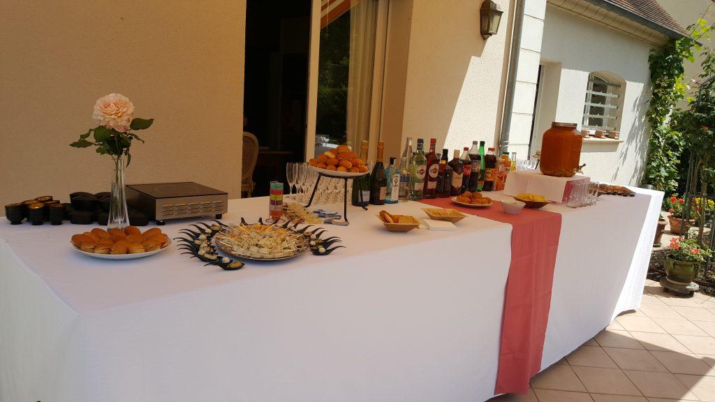 Buffet réception privée à domicile par le traiteur Richard Blanc Guyancourt