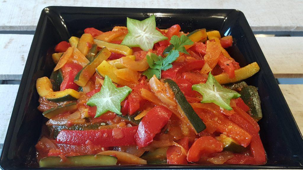 Légumes façon Basquaise froids par le traiteur Richard Blanc