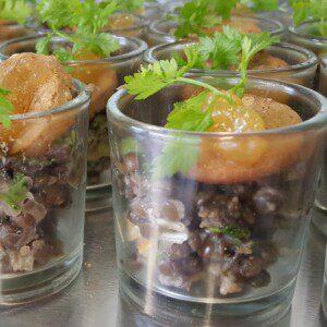 Mini verrine de caviar de lentilles beluga au citron confit 30g