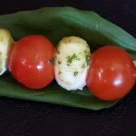 Brochette de tomate mozzarella