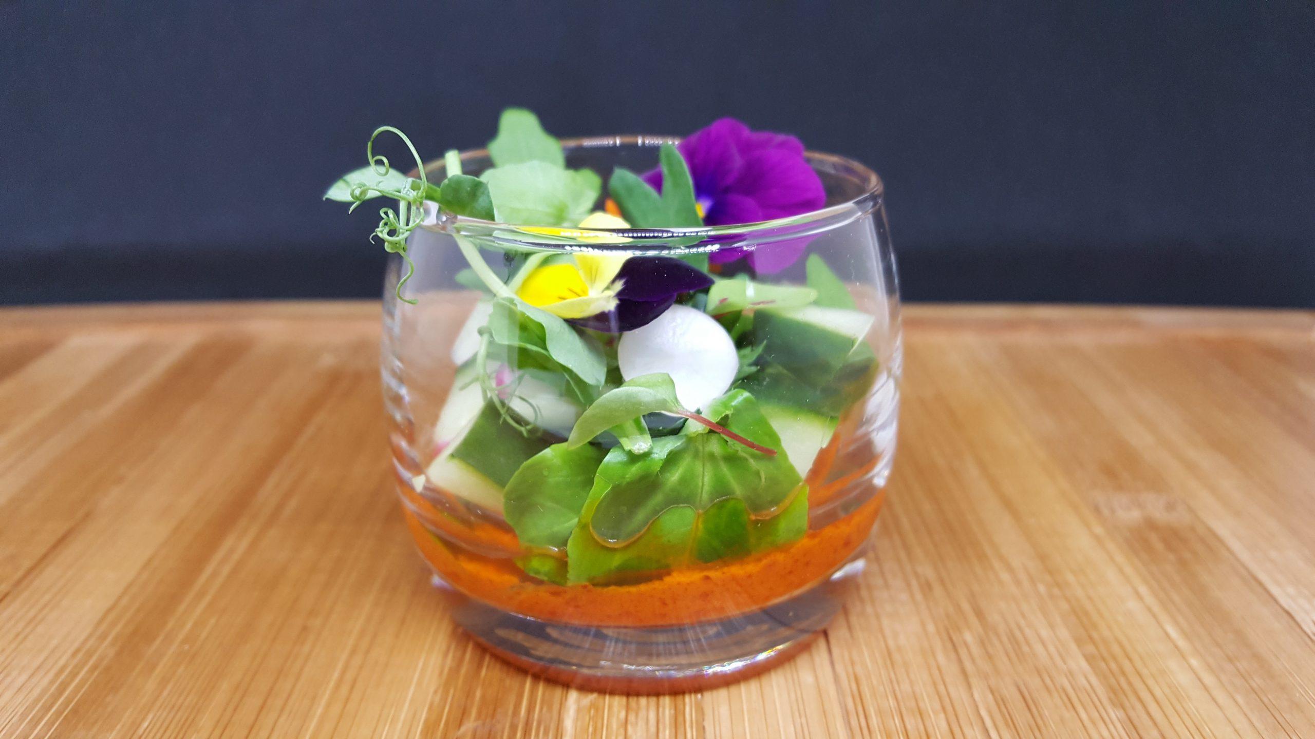 Verrine végétale du traiteur goodee SQY à Voisins le Bretonneux