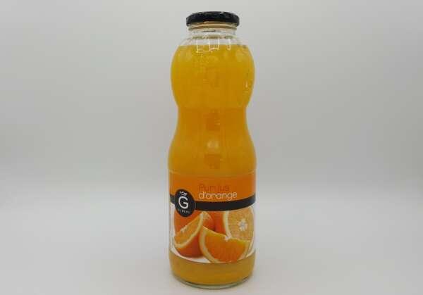 Bouteille en verre de Jus d'orange Gilbert 1 litre