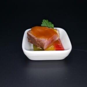 MinMagret de canard et poivrons du traiteur