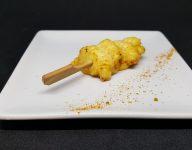 Mini brochette froide de poulet aux épices douces